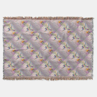 Flying Hummingbird Throw Blanket