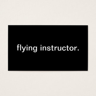 Flying Instructor Business Card