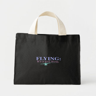 FLYING: IT'S A GIRL THING by Flying Diva Mary Ford Mini Tote Bag