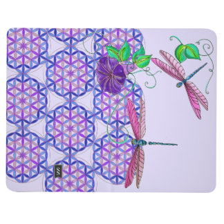 FLYING JOURNAL~ Dragonfly Journey Flower of Life Journal