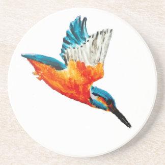 Flying Kingfisher Art Beverage Coasters