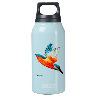 Flying Kingfisher Art Insulated Water Bottle