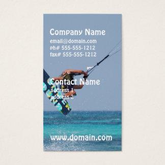 Flying Kitesurfer Business Card