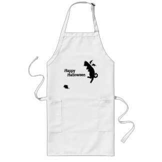 Flying kitty long apron