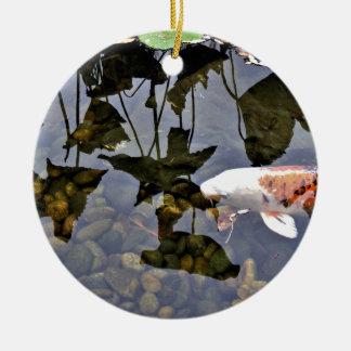 Flying Koi Ceramic Ornament