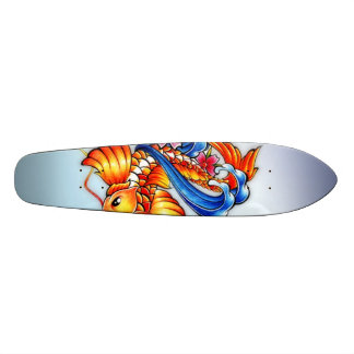 Flying Koi Fish Skateboard Oldschool