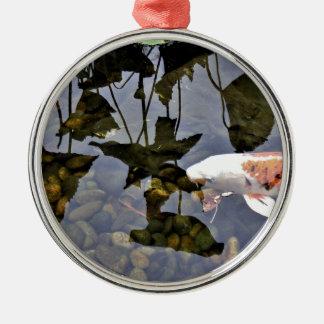 Flying Koi Metal Ornament
