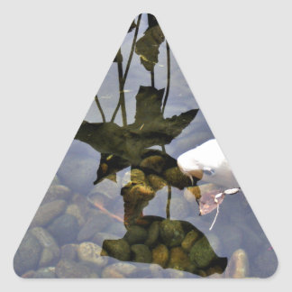 Flying Koi Triangle Sticker