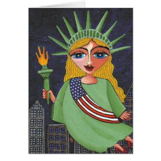 Flying Lady Liberty - notecard / invites