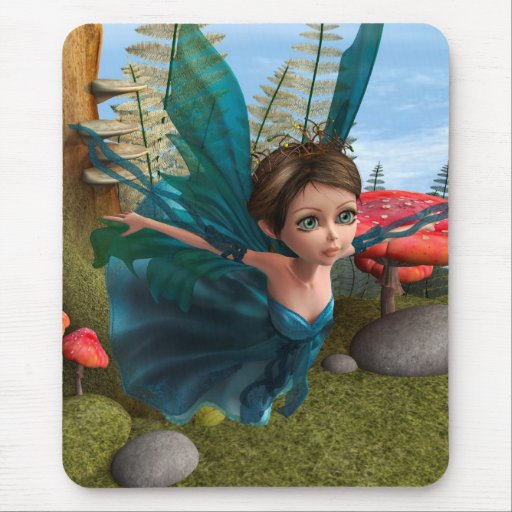 Flying Little Fairy Butterfly Mouse Pad