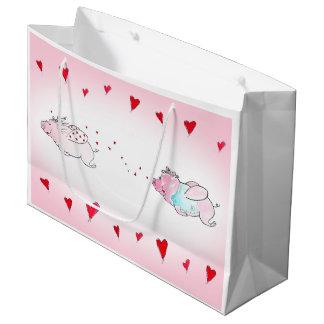 Flying Love Pigs Gift Bag