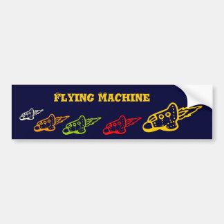 FLYING MACHINE BUMPER STICKER