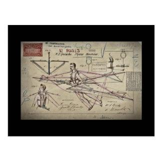 Flying Machine Glider Patent Postcard