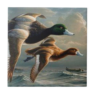 Flying Mallard Ducks. Tile