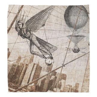 Flying man steampunk head kerchief