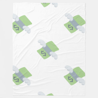 flying money emoji blanket