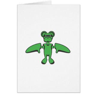Flying Monkey Greeting Card