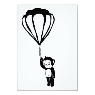 flying monkey : hot air balloon custom invitations
