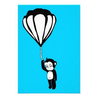 flying monkey hot air balloon custom invites
