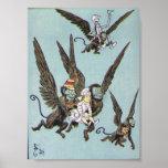 Flying Monkeys Colour Poster