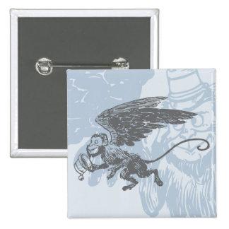 Flying Monkeys Fairy Tale Fantasy Creature Pinback Buttons