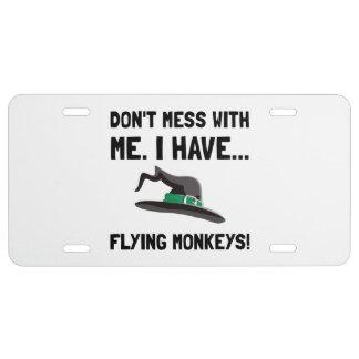 Flying Monkeys License Plate
