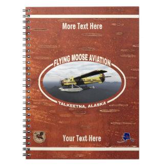 Flying Moose Aviation de Havilland DH3-C Otter Spiral Notebook