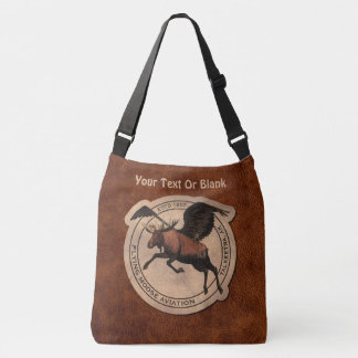 Flying Moose Aviation Patch Crossbody Bag