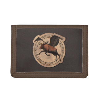 Flying Moose Aviation Patch Trifold Wallet