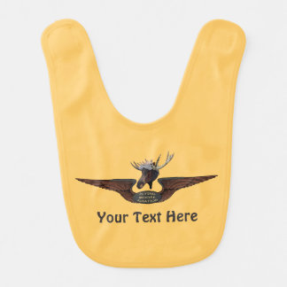 Flying Moose Aviation Wings Bibs