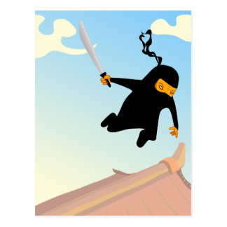 Flying Ninja Postcard