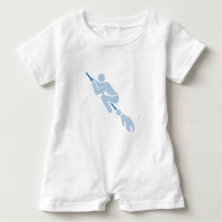 flying on the magic broom baby romper
