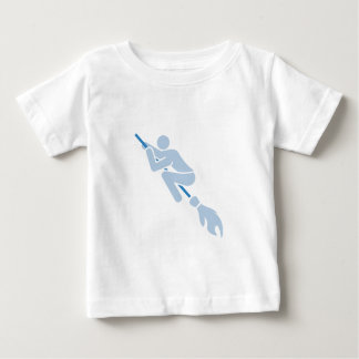 flying on the magic broom baby T-Shirt