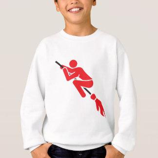 flying on the magic broom sweatshirt