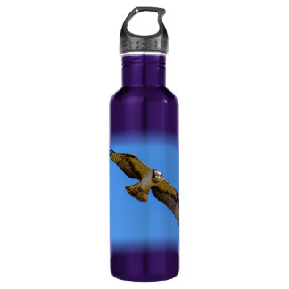Flying osprey with a target in sight 710 ml water bottle