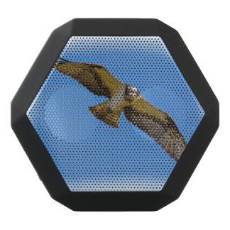 Flying osprey with a target in sight black bluetooth speaker