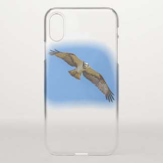 Flying osprey with a target in sight iPhone x case
