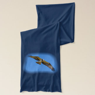 Flying osprey with a target in sight scarf
