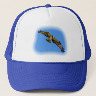 Flying osprey with a target in sight trucker hat
