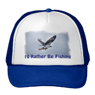 Flying Osprey with Walleye Fish HDR Photo Trucker Hat
