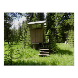 Flying Outhouse Poster