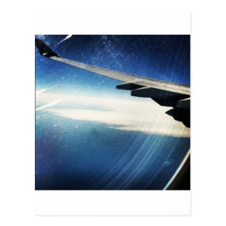 flying over america postcard