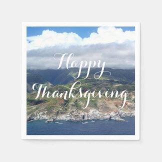 Flying over Hawaii Napkins Paper Napkin