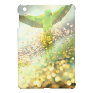 FLYING PARROT IN A GOLDEN JUNGLE iPad MINI COVERS