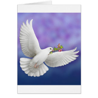 Flying Peace Dove Greeting Card