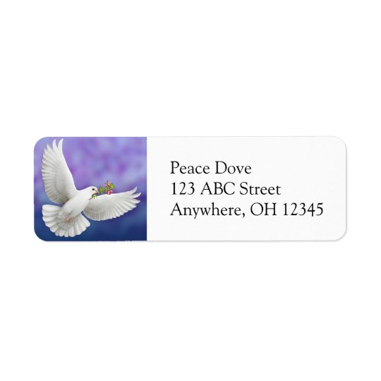 Flying Peace Dove Label