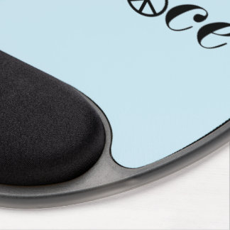 Flying Peace Dove Olive Branch White Background Gel Mouse Pad