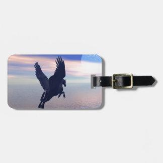 Flying Pegasus in Blue Sky Bag Tag
