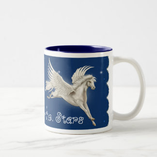 Flying Pegasus Two-Tone Coffee Mug
