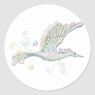 Flying Phoenix Round Sticker